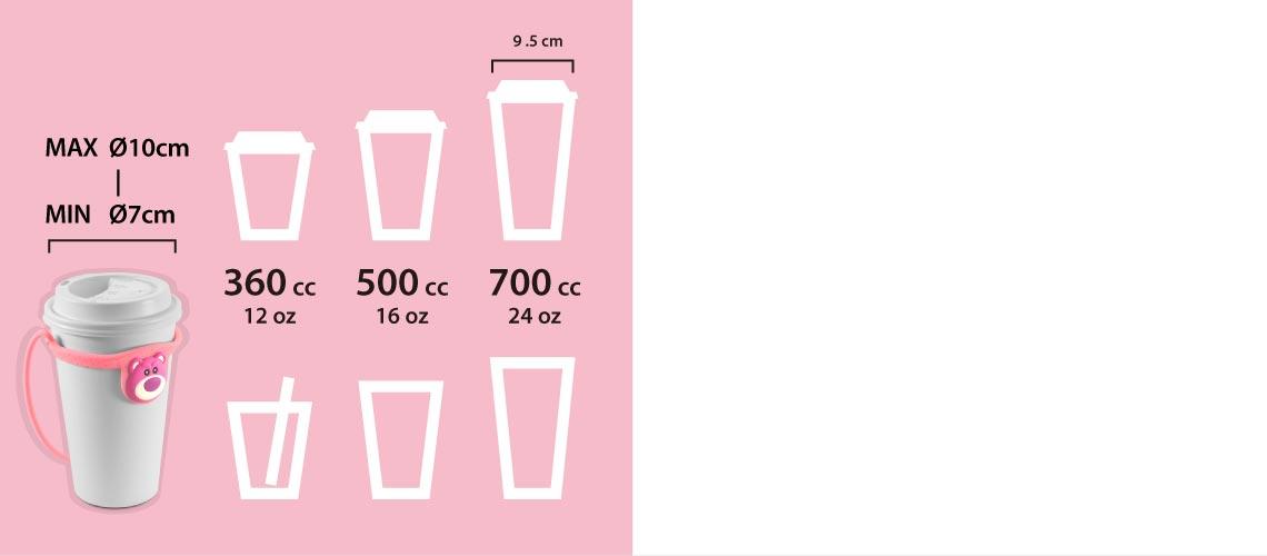 環保杯綁,飲料提袋適用杯口直徑 7 - 10cm